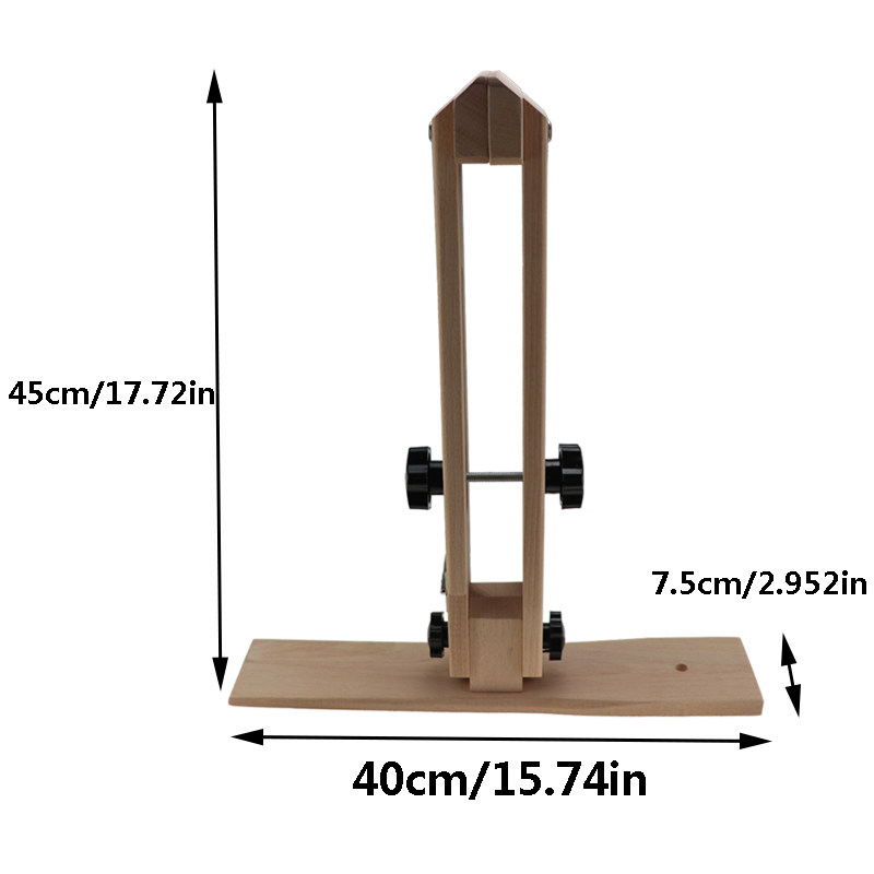 45CM Leather Sewing Pony Horse Clamp Desktop Lacing Table for DIY Hand Stitching