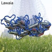 Lawaia 낚시 그물 플라이 캐치 캐스팅 그물 미국 손 주조 그물 Sinkers 스포츠 손 던져 네트워크 직경 2.4m 7.2m