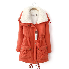 Get more info on the Winter Women Jacket Thick Warm Short Plush Fur Collar Women Jacket Coat Fashion Causal Pregnant Maternity Coat