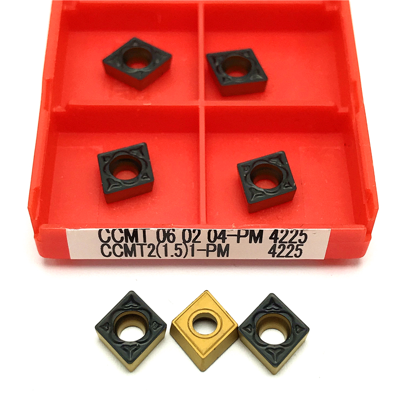 High Quality CCMT060204 PM 4225 Carbide Insert Internal Turning Tools Metal Lathe Tool CCMT 060204 PM4225 Turning Inserts