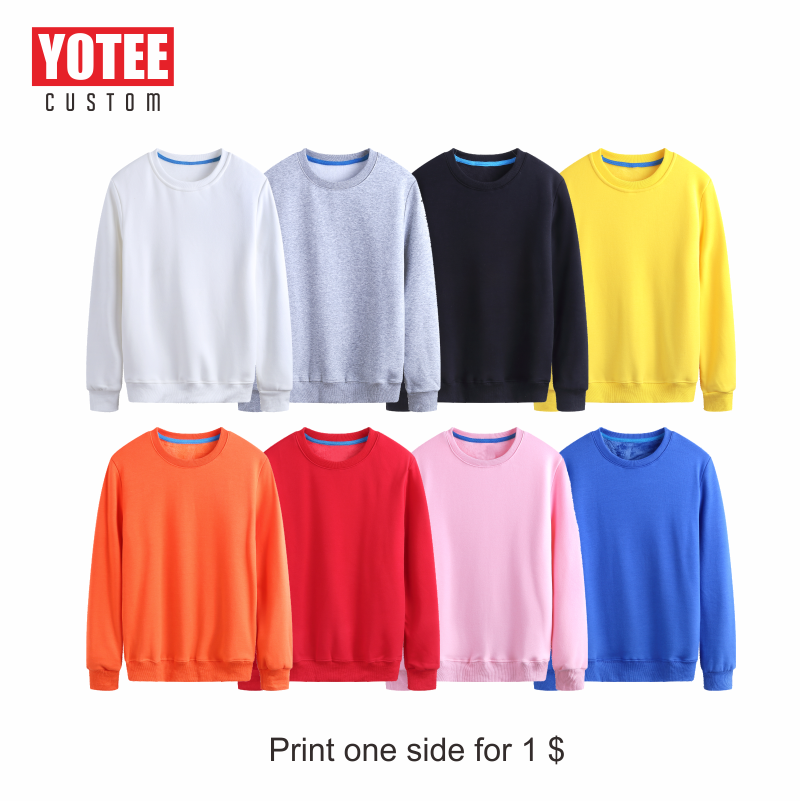 YOTEE Trendy Hoodie Sweatshirts Autumn Winter Round Neck Custom Long Sleeve Women And Men Sports Shirt