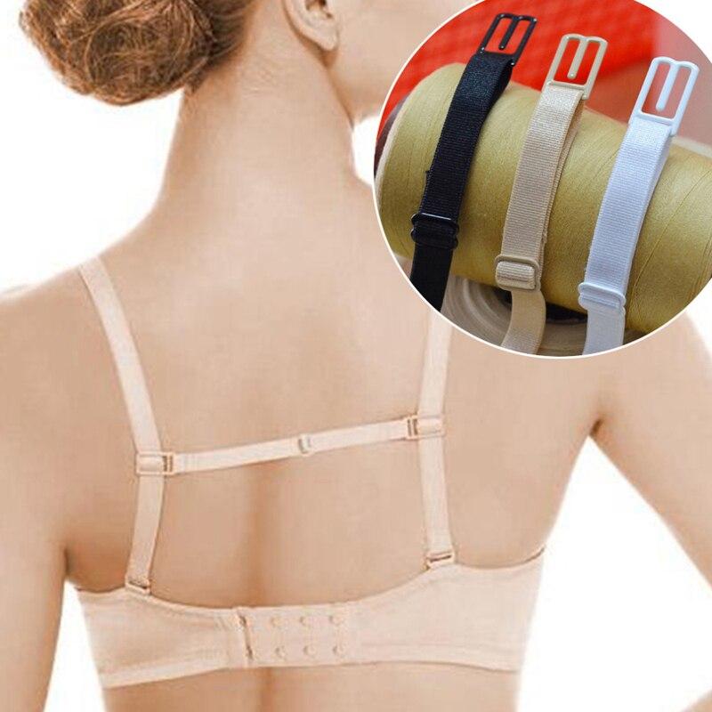 3/5pcs Sexy Underwear Non-slip Buckle Extender Elastic Non-Slip Back Holder Shoulder Bra Straps For Women Gilrs Bra Accessories