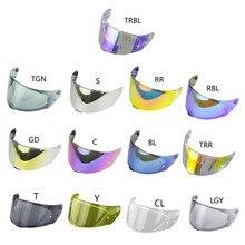 Visière de casque de moto, visière complète, protection solaire UV pour FF320 FF328 W91F