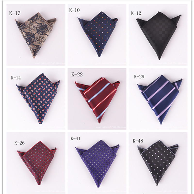 Male Handkerchiefs Wedding Party Unisex Handkerchiefs Business Polyester Silk Flower Pocket Square Party Gift Accessory