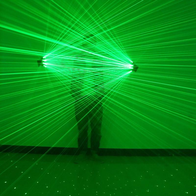 FANHHUI haute qualité vert Laser gants discothèque Bar fête danse chanteur danse accessoires DJ mécanique gants lumière LED