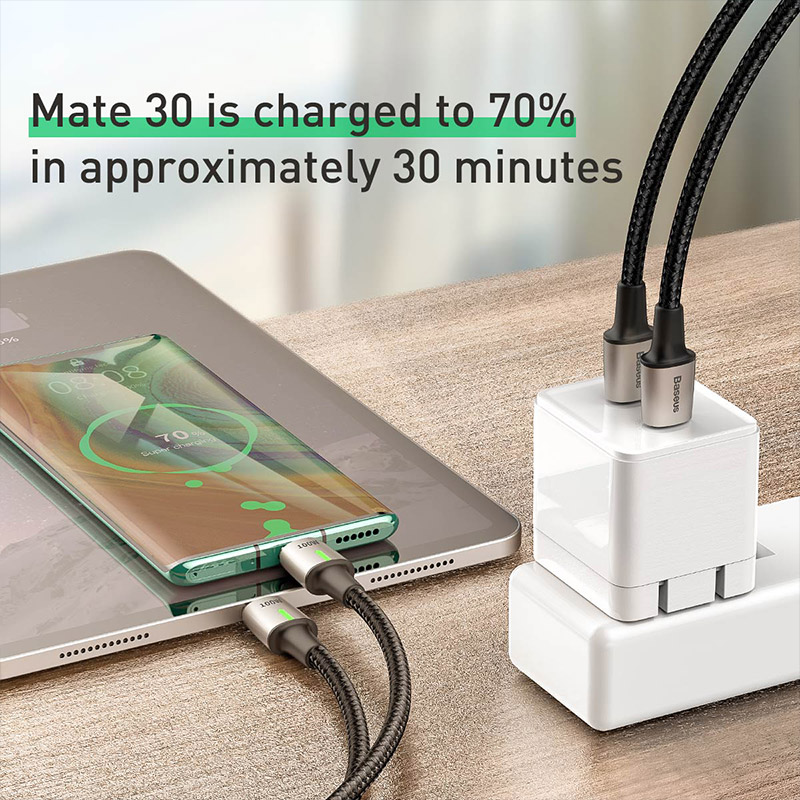 Baseus 100W Magnetic Cable Type C to Type C Cable for Redmi Note 9s Huawei P40 PD Fast Charging for MacBook Pro Micro USB Cable 5