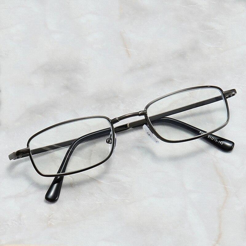 Ultra-light Reading Glasses Fashion Metal Rectangular Frame Eyewear  Men Women Presbyopia Eyeglasses Two-color Glasses