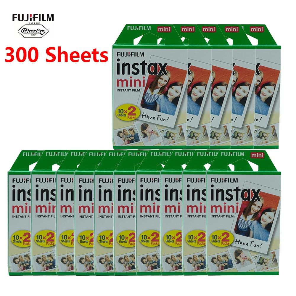 Fujifilm instax mini Film 10 20 40 60 80 100 200 300 Folhas Fuji 9 8 filmes filmes para o instante de Borda branca mini 9 8 7s 25 50s 9 90