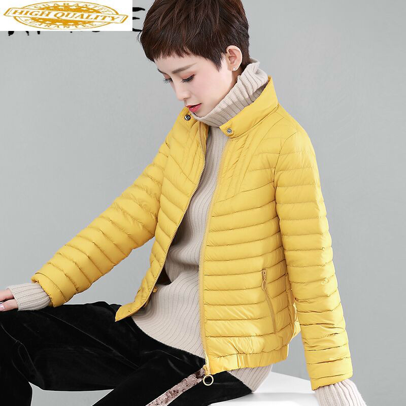 Spring Autumn Korean Ultra Light Down Jacket Women White Duck Down Coat Puffer Jacket Womens Jackets WDDY7683 YY1535