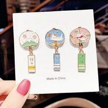 Broche de Style japonais pour femme, jolie broche tendance, lapin, chat, cygne, bénédiction de la richesse, bijoux, cadeau de Couple
