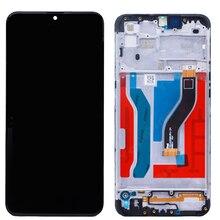 Orijinal A10s Samsung Galaxy A107 A107F A107F/DS 2019 çerçeve ile LCD 6.2 inç ekran SM A107F dokunmatik ekran