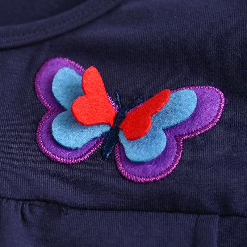 He579ac341284417b928799335ee9945b6 VIKITA Girls Cotton Dress Long Sleeve Children Patchwork Vestidos Kid Dresses for Girls Clothes Toddlers Cartoon Princess Dress