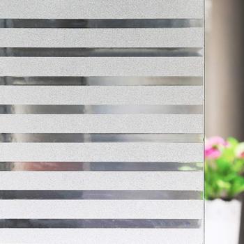 Białe linie dekoracyjne folie okienne biurowe folie termoizolacyjne z matowym okienkiem przylegające do wystrój okna naklejki na szkło winylowe tanie i dobre opinie WXSHSH Samoprzylepne Statyczne czepiać Przeciwwybuchowe Izolacja cieplna 30 45 60 90 x 80 100 150 200 300 cm Tłoczone