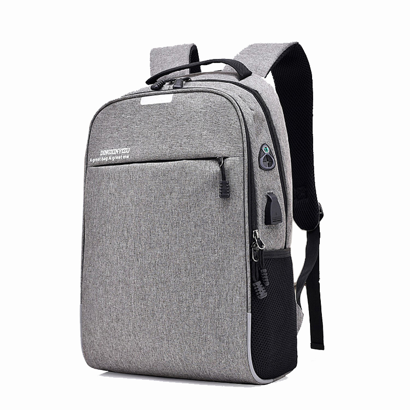 Wear-Resistant Backpack Oxford Casual Outdoor Backpack USB Charging Student School Bag
