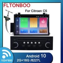 7 بوصة أندرويد 10 Citroen C5 2005 2012 جهاز تشغيل أقراص دي في دي بالسيارة لاعب ، غس الملاحة ، 2 جيجابايت رام ، 16 جيجابايت روم ، واي فاي ، عجلة التوجيه ، الحرة 16 جرام خريطة ، ميك