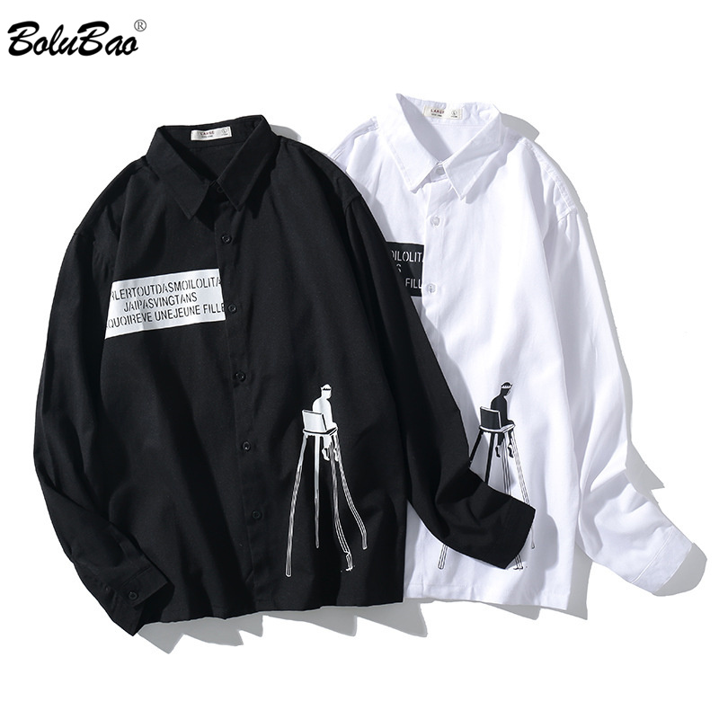 BOLUBAO Quality Brand Men Casual Shirt New Spring Solid Color Male Cotton Shirt Men's Lapel Base Long Sleeve Shirts Tops