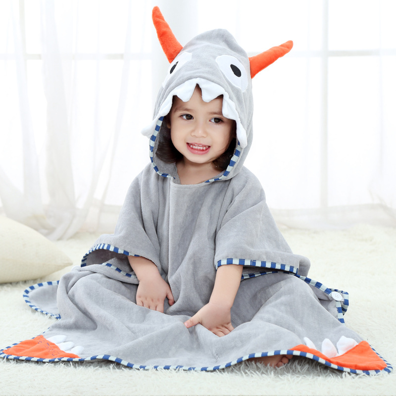 Bath Towel For Children Baby Towel Comforter Baby Printed Hooded Bathrobe Children Pure Cotton Bathrobe Beach Towel