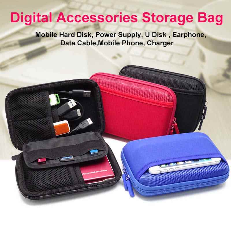 Case Cover Pouch Purse For Portable Hard Drive GPS Power Bank Mobile Charger