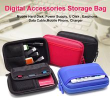 2.5 Inch External Hard Drive Case Bag Portable Travel Power Bank AD Card USB Data Cable 2.5 Inch SSD HDD Case Protective box