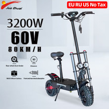 Jueshuai Opvouwbare Elektrische Volwassen Scooter 11 Inches Off Road Band 3200W 80 Km/h E Scooter Met Seat Lange Skateboard ce Hoverboard(China)