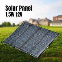 12 فولت 1.5 واط لوحة شمسية مصغرة القياسية الايبوكسي الكريستالات السيليكون لتقوم بها بنفسك بطارية الطاقة تهمة وحدة الخلايا الشمسية شحن المجلس