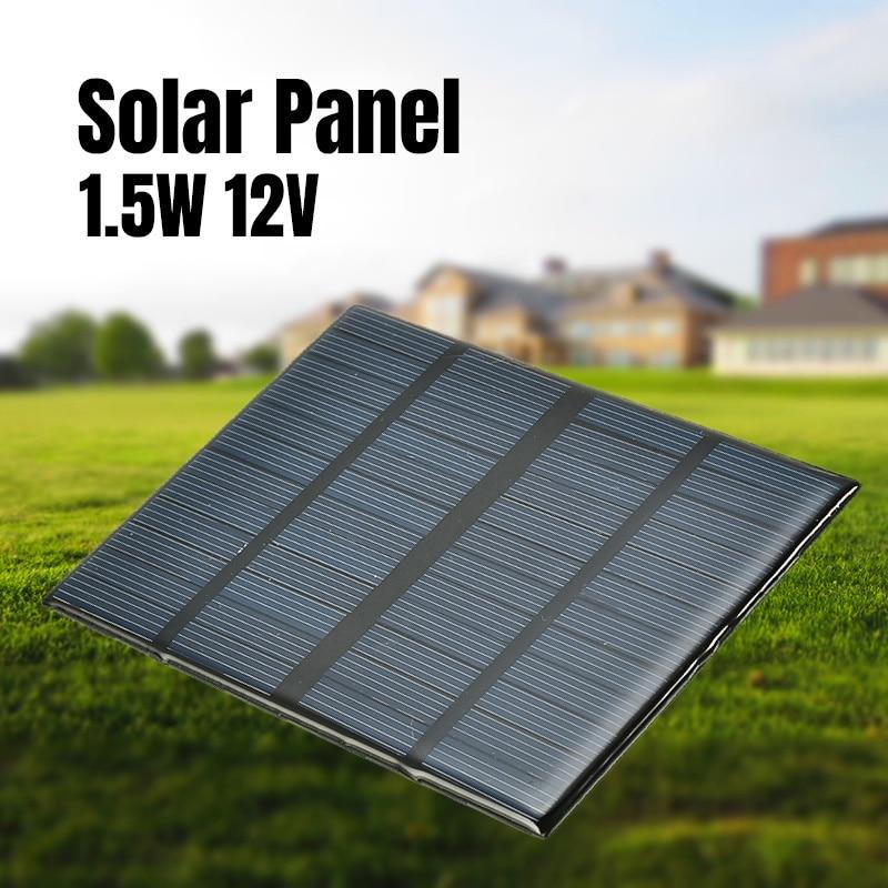 12V 1.5W Mini Solar Panel Standard Epoxy Polycrystalline Silicon DIY Battery Power Charge Module Solar Cell Charging Board