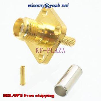 DHL/EMS 500 шт. разъем внутренний разъем SMA с 4 отверстиями фланец обжимной RG174 RG316 LMR100 кабель-A3