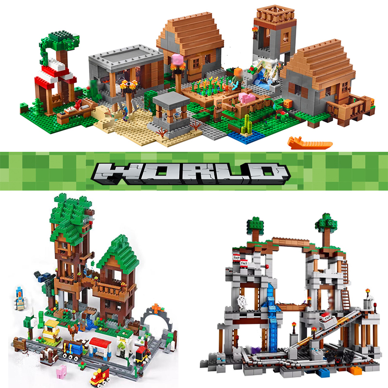 Compatible Lepining tree house Village figures Mountain Mechanism Cave my playmobil world building Classic building block toys(China)