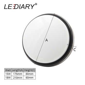 LEDIARY Kitchen Foyer LED Ceiling Light 220V 15W 18W Radar Sensor IP54 Waterproof Bathroom Lamp Surface Mounted Lighting Fixture
