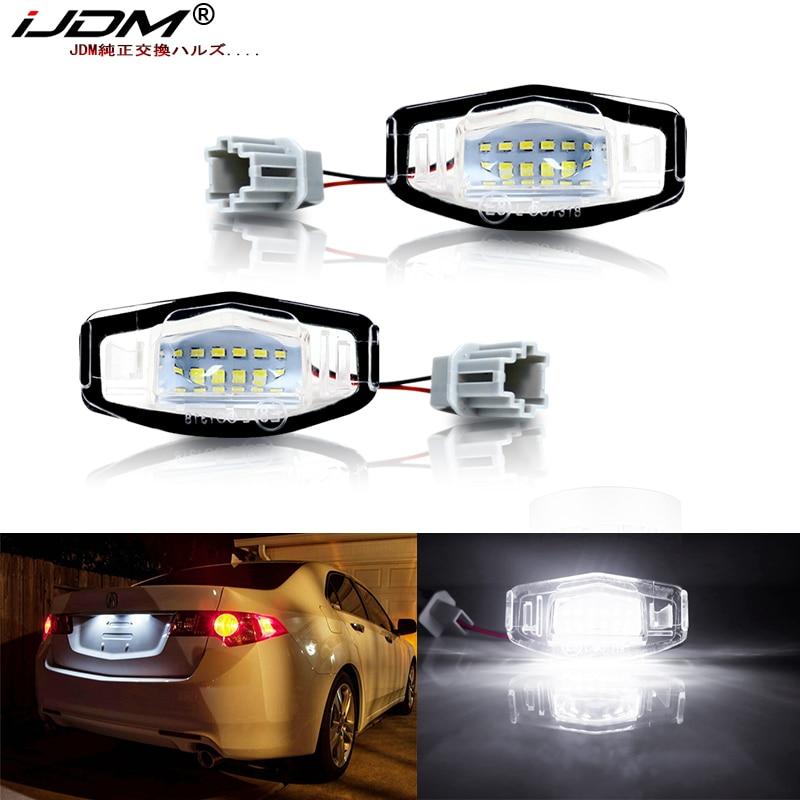 Ксеноновый белый светодиод iJDM OEM-Fit для освещения номерного знака Acura MDX RL TL TSX ILX для Honda Civic Accord Odyssey Освещение номерного знака
