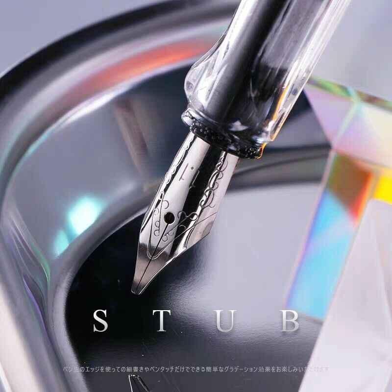 Caligrafia paralela caneta caneta tinta gótico árabe italic 0.7/1.1/1.5/1.9/2.5/2.9/mm caligrafia artigos de papelaria material de escritório