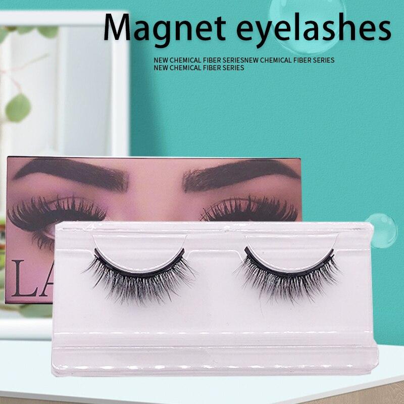 Magnetic Mink Lashes 1 Pair Magnetic EyeLashes Natural Hair Mink Lashes 3D Mink Fake Lash 100% Dramatic EyeLashes Fluffy