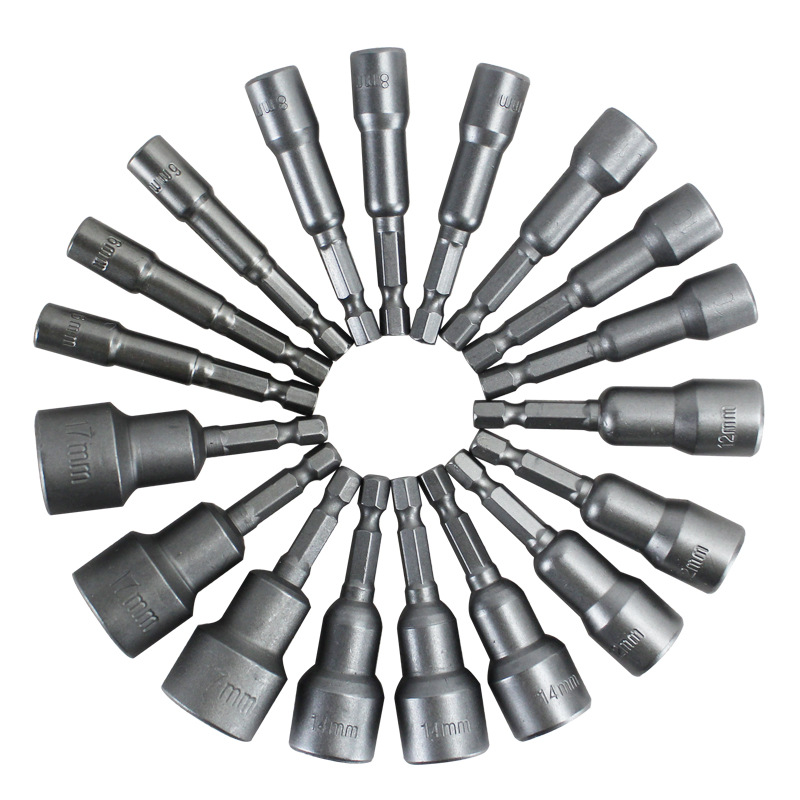 6MM-<font><b>15MM</b></font> Hex Shank Socket Sleeve Nozzles Nut <font><b>Driver</b></font> Bit Set Drill Bit Adapter Hex Power Tools image