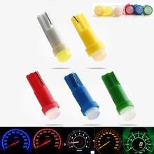 цена на 10pcs 12V DC T5 Ceramic Instrument Lamp 1SMD 1W Car Dashboard Indicator LED Lights