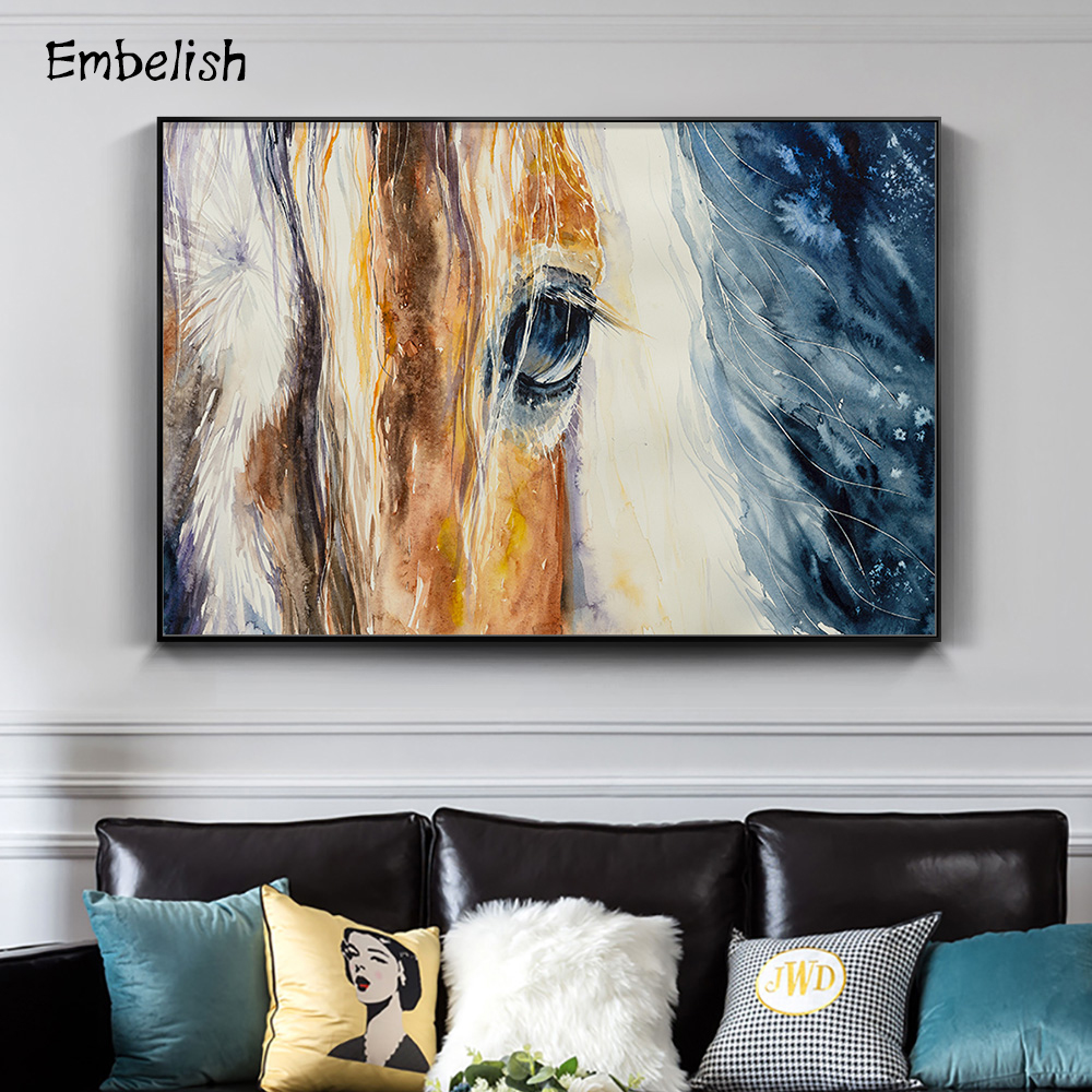 1 Pieces Wild Animals Horses Large Wall