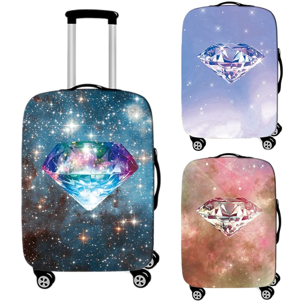 Cover Diamond-Luggage-Case Protective-Cover Suitcase Travel-Accessories Trunk Elastic