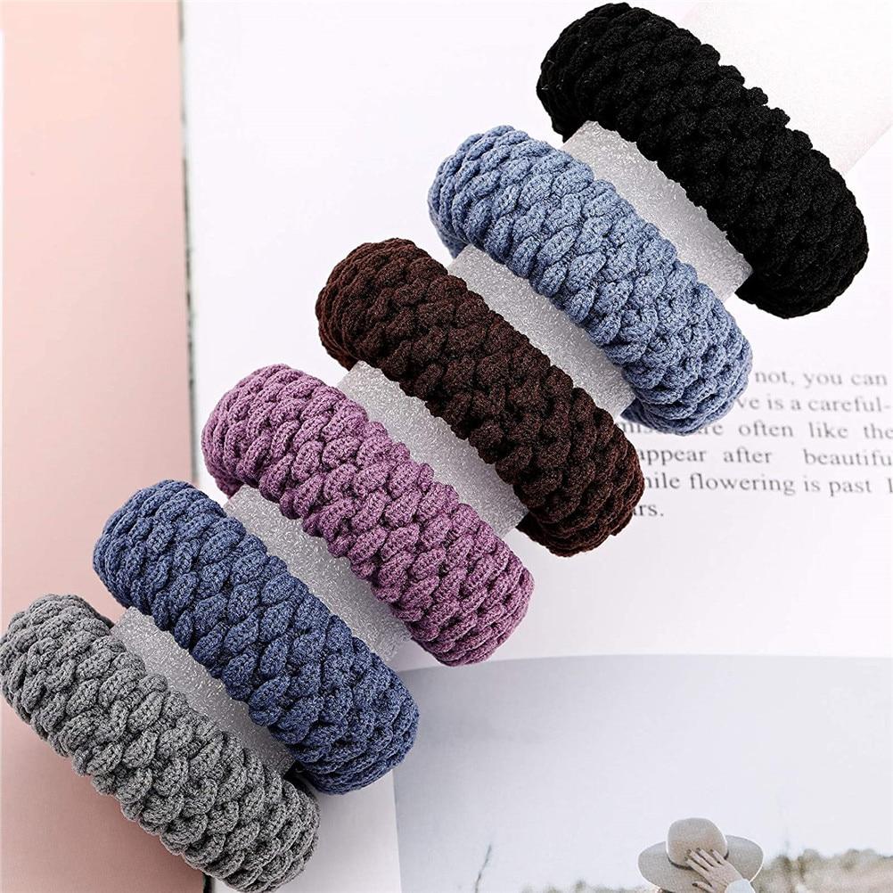 20 штук Прочные эластичные резинки для волос резиновые кольца резинки для волос группа устойчивость бесшовные волна веревка для Для женщин ...