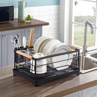 Escurridor de platos de cocina de acero inoxidable, organizador sobre rejilla para escurrir para fregadero, estante de almacenamiento, soporte para utensilios, estante de secado de platos, nuevo