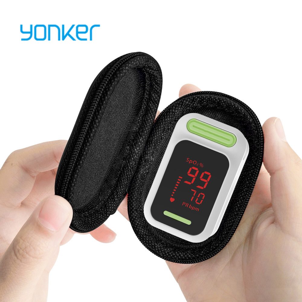 Yonker Medical Pulse Oximeter Portable Finger Pulse Oximeter LED Fingertip Oximeter Blood Oxygen Saturation Monitor image