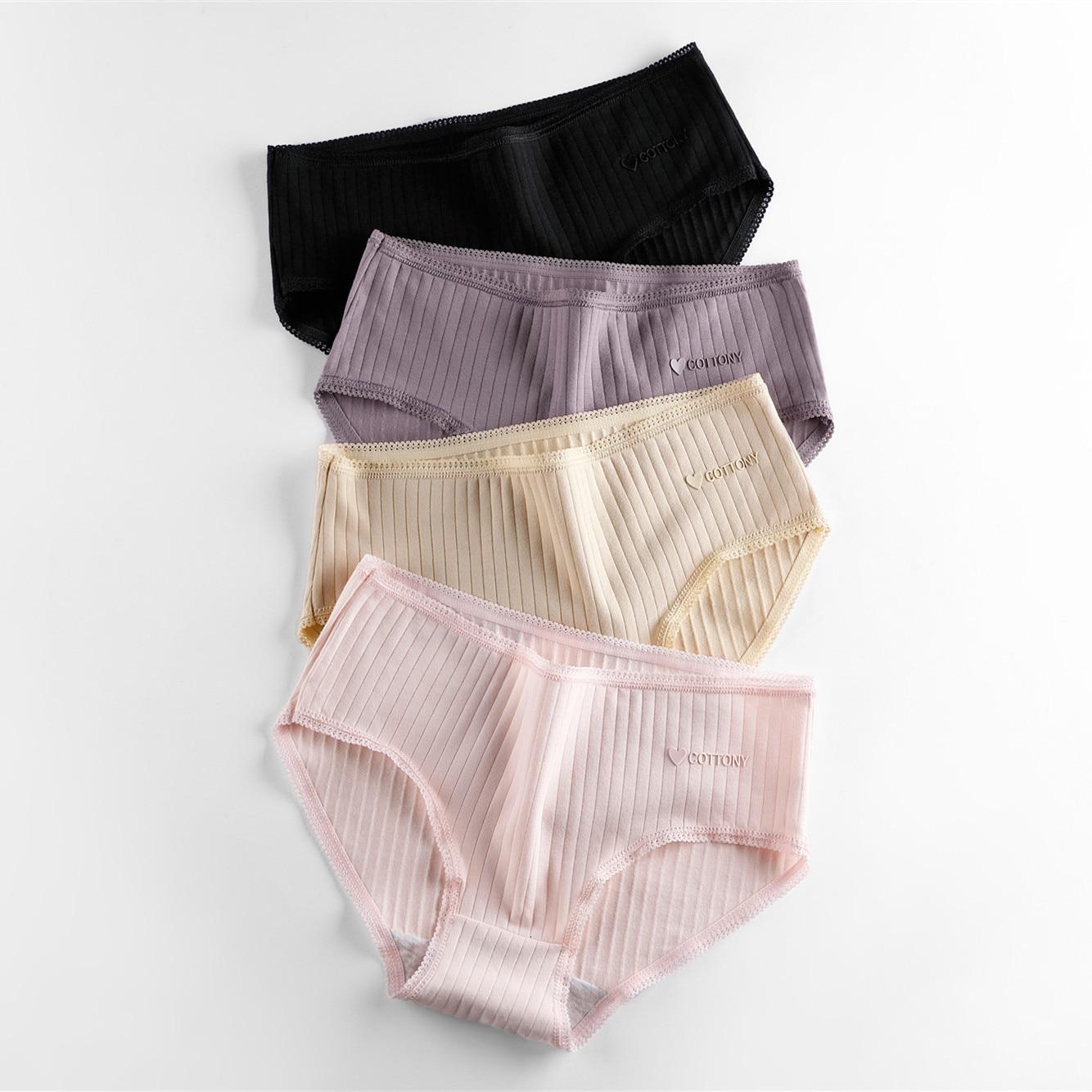M-XL Women's Panties 3Pcs Cotton Solid Color Girl Briefs Sexy Lingerie Female Underwear Ladies Underpants Women Intimate 2019