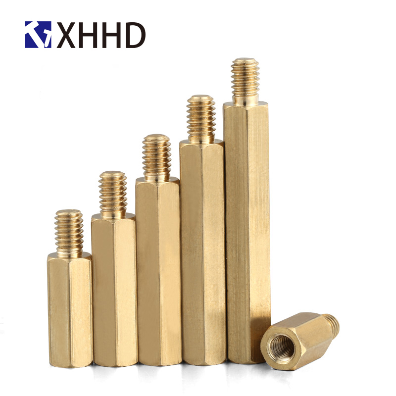 uxcell M3x15mm+6mm Male to Female Thread Brass Spacer Hexagonal Standoff Pillar 30pcs