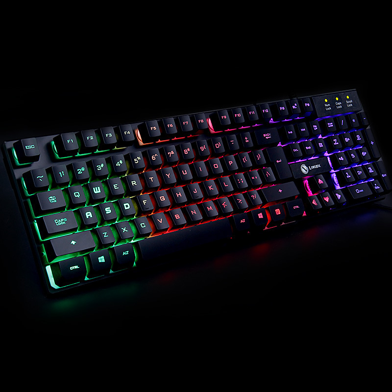 Limei TX30 Suspension Rainbow Backlight Machinery Division Internet Cafes Gaming Keyboard Machinery Handfeel CF Lol Eight Keyboa
