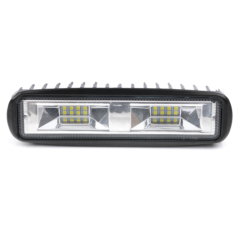 <font><b>Light</b></font> Bar <font><b>Work</b></font> 6 inch 48W <font><b>16</b></font> <font><b>LED</b></font> Combo Beam Bulb Car Driving Fog Lamps For Jeep Truck Tractor Boat SUV 12V 24V 6000K White image