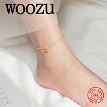Анклет woozu из настоящего серебра 925 пробы женский модная