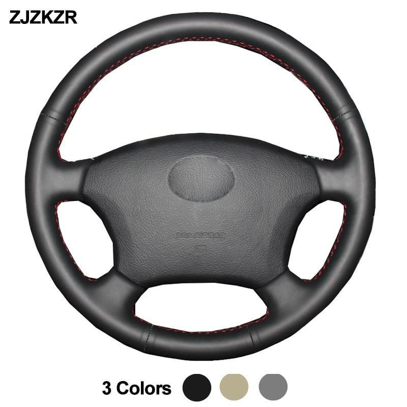 Крышка автомобильного рулевого колеса для Toyota Land Cruiser Prado 120 2004-2009 Land Cruiser 1995-2007 Tacoma Hilux Volant 2005 2006