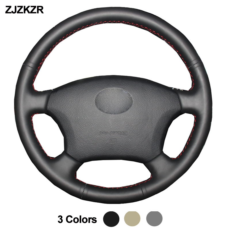 Car Auto Steering-Wheel Cover For <font><b>Toyota</b></font> <font><b>Land</b></font> <font><b>Cruiser</b></font> <font><b>Prado</b></font> <font><b>120</b></font> 2004-2009 <font><b>Land</b></font> <font><b>Cruiser</b></font> 1995-2007 Tacoma Hilux Volant 2005 <font><b>2006</b></font> image