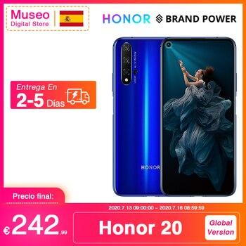 Перейти на Алиэкспресс и купить Глобальная версия Honor 20 смартфон 6G128G Kirin 980 Восьмиядерный 6,26 ''48MP четыре сотовые камеры Google Play SuperCharge