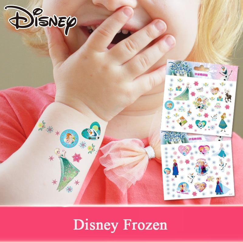 Disney Cartoon Sticker Tattoo Sticker Disney Princess Frozen Anna Elsa Princess Sofia Mickey Mouse Children Tattoo Stickers Toys