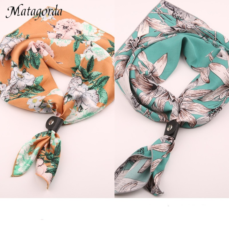Matagorda Man Scarf Small Scarves Face Towel Neckerchief Fashion Printing Neck Gaiter Hijab Scarf 60CM Cotton Leather Upholstery