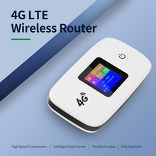 4G LTE Wireless Router Portable Wifi Router with SIM SD Card Slot 1.44 inch TFT Color Screen 2400mAh Battery extender repetidor